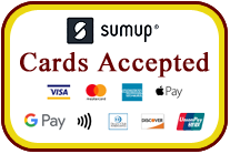 Cards accepted with Sumup